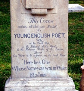 Tombstone of John Keats